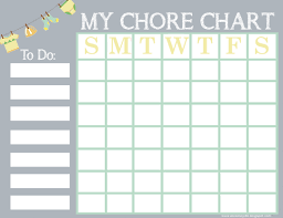 Free Printable Chore Chart For Kids A Cowboys Life