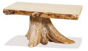 tree stump coffee table from