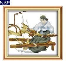 Christmas Cross Stitch Charts Us 5 16 49 Off Nkf Weaving Needle Craft Chinese Cross Stitch Charts Counted Stamped Christmas Cross Stitch Kits For Home Decoration In Package From