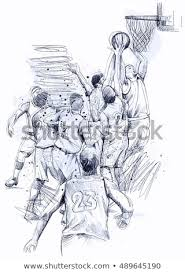 Basketball Drawing Pictures Royalty Free Stock Illustration Of Basketball Drawing Stock