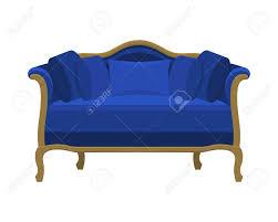 Blue Vintage Sofa Icon Of Fashion Elegance And Cozy Furniture