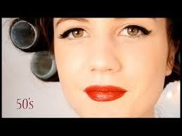 50 s inspired make up tutorial