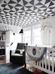 Sinclair Interior Design Designer Crystal Sinclair Used Graphic Wallpaper By Living