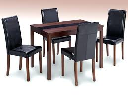 4 chairs set walnut dining table and spectrum round b black glass