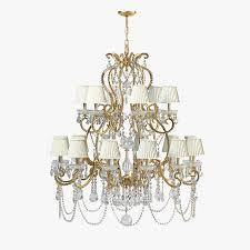 ralph lauren adrianna medium chandelier royalty free 3d model preview no 1