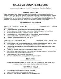Resume Objective Sales Associate Simple Example Customer Service Resume Skills Cover Letter Sample A Sales