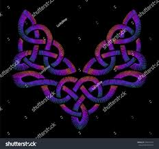 Celtic Knot Embroidery Designs Embroidered Celtic Knot Pattern Embroidery Traditional Stock