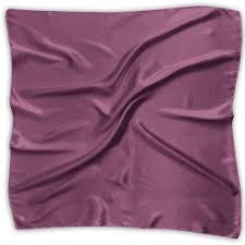 Women Neckerchief Boysenberry Solid Color Satin Silk Feeling