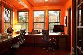 home office shaped. Kidney-shaped-desk-Home-Office -Modern-with-bead-board-blinds-built-in-desk-CEILING Home Office Shaped