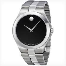 movado men s and women s watches 489 99 for a movado classic stainless steel 40 mm men s watch silver black 0606555 995 list price