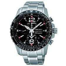 aviator watches for men • stones finds seiko sportura aviator chronograph stainless steel mens watch snae95