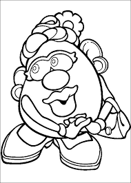 mr and mrs potato head coloring pages. Mr Potato Head To And Mrs Coloring Pages