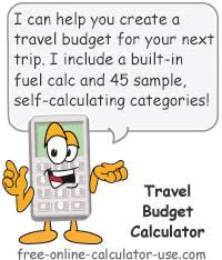 budget helper travel budget calculator with automatic expense multipliers