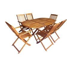 vidaxl 7 piece folding outdoor dining