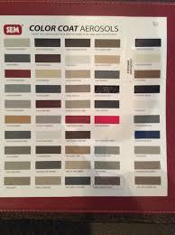 Sem Vinyl Color Chart Restoring Vinyl Plastic Interior With Sem Color Coat