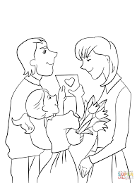 Small Picture Father And Daughter Presenting Mother Flowers Card For At And
