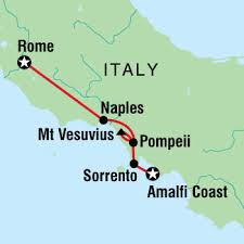 rome to amalfi adventure trip bootsnall Map Of Italy Naples And Pompeii map image map image naples pompei map