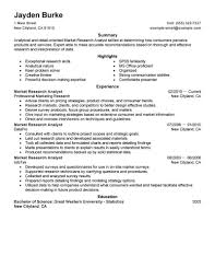 Best Market Researcher Resume Example From Professional