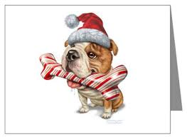 Bulldogs DogBreed-Gifts.com, Bulldog Christmas Cards, Ornaments