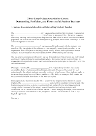 Letters Of Recommendation Templates For Teachers Recommendation Letter For Outstanding Student Templates