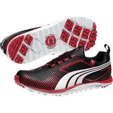 puma shoes pink and black. puma faas lite golf shoe - womens black/white/pink at intheholegolf.com shoes pink and black