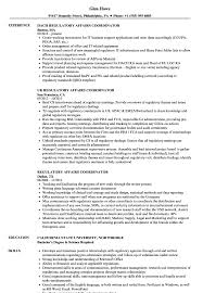 Download Regulatory Affairs Coordinator Resume Sample as Image file