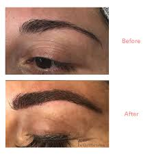eyebrow trimmer before after. next, kendra mixed the perfect shade to match my brow while a numbing agent began set in. once she had hue, (using all-organic dye), eyebrow trimmer before after