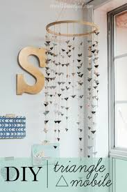 42 diy room decor for girls diy triangle mobile awesome do it yourself room