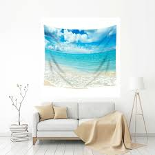mugod beach tapestry ocean shore beach clouds sky home decor wall hanging tapestry cotton polyester on fabric wall art nz with mugod beach tapestry ocean shore beach clouds sky home decor wall
