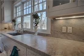 5cm honed white carrara marble eased kitchen countertop