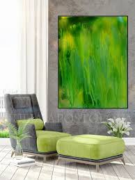 green abstract painting large wall art canvas print green wall decor minimalist painting minimal art  on green wall art decor with green abstract painting large wall art canvas print green wall decor