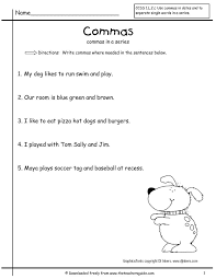 Commas In A Series Worksheet Free Worksheets Library | Download ...