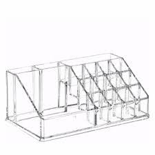 clear acrylic cosmetic makeup storage organizer box lipstick stand holder display rack make up brush eyeshadow