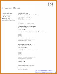 Hotel Housekeeping Resume Example Housekeeper Resume Art Resume Examples 13
