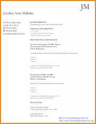 Resume Housekeeping Housekeeper Resume Art Resume Examples 9