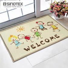 Welcome Doormat 40x60cm Cartoon Kids printed tapetes bath mat for ...