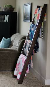 Diy Ladder For Blanket Storage Rack