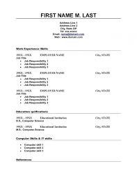 Free Printable Resume Templates Blank Of Format Resume Word Format