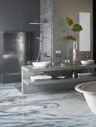 Interior Gorgeous Bathroom Design Ideas With Diagonal White Glass - Glass tile bathrooms