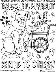 Anti Bullying Coloring Pages Surfdog Ricochet Be True To You