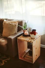 wood crate decor cute square ideas for with small circle furniture and  rustic decorations