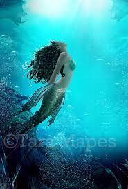 Mermaid Underwater Scene Under Ocean Ocean Background Ocean Digital Background Backdrop
