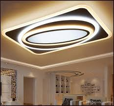 modern led ceiling chandelier lights for living room bedroom rectangle square new acrylic led ceiling chandelier lamp fixtures from china dhgate
