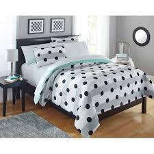 Polka Dot Bedroom Bedding Alluring Combination Of Grey Striped Comforter And Black