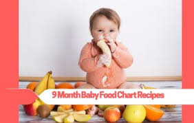 Diet Chart For 9 Month Baby 9 Month Baby Food Chart Recipes Budding Star