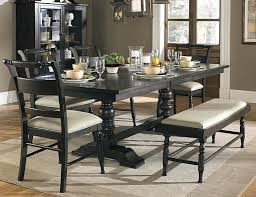 black wood dining table dining table with quality soft leather high back nova chairs dark solid