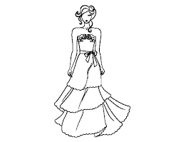 Coloring Dresses Dresses Coloring Pages All Princess With Beautiful