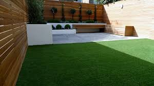 fence walls and fake grass