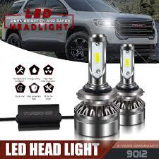 2013 Gmc Acadia Fog Light Kit Led Headlight Kit 9012 6000k White Hi Low Cree Bulbs For Gmc