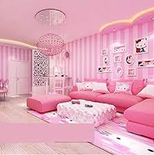 Einfache Moderne Schlafzimmer, Wohnzimmer Und Vertikale Streifen Tapete  Kinder Warme Zimmer Rosa 9,5